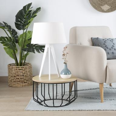 Lure white table lamp