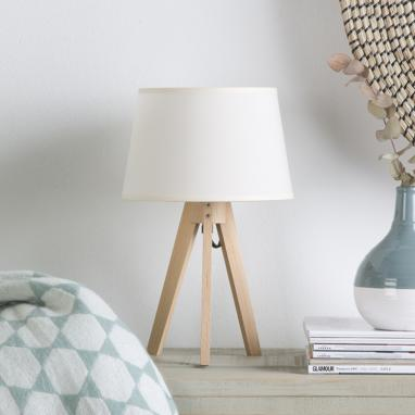 Lure natural table lamp 34h