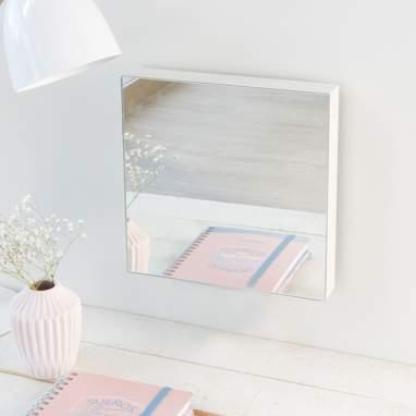 Veo miroir blanc 27x27