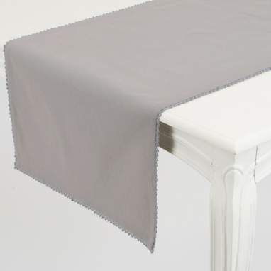 Zaret grey table runner