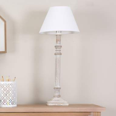 Leika white table lamp 48h