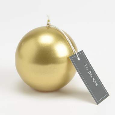 Impo golden sphere candle