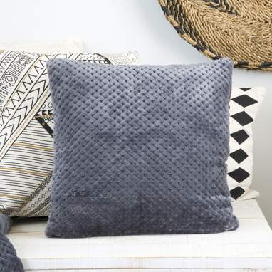 Lemf checkerboard anthracite cushion