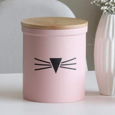 Lyon barattolo con coperchio rosa