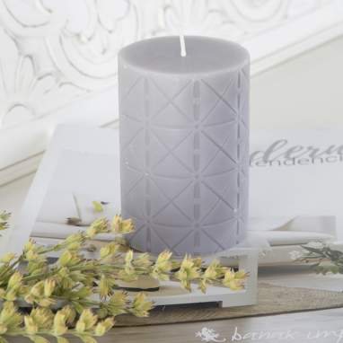 Xul grey decorated candle
