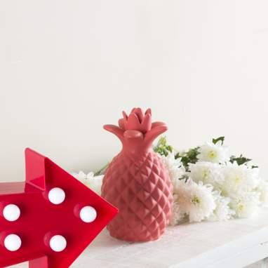 Obby ananas rosso ceramica