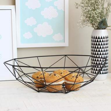 Filux black metal basket
