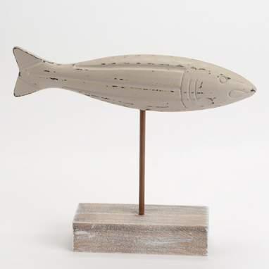 Ixto estatueta peixe mediano