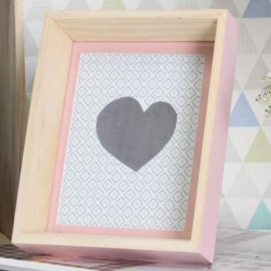Nasky cornice legno rosa 13x18