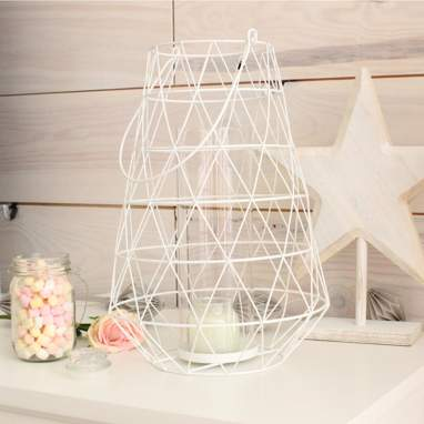Nalpa porta-velas linterna branco