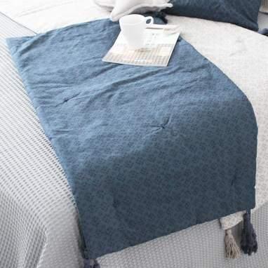 Oloh caminho de cama style azul 55x210