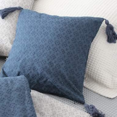 Hohe cojin style azul 40x40