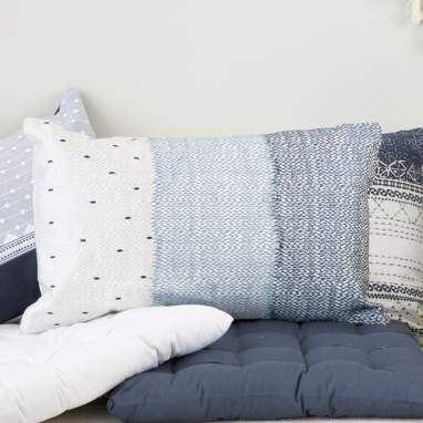Tiko blue cushion 30x50