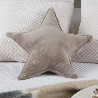 Diret coussin étoile couleur taupe
