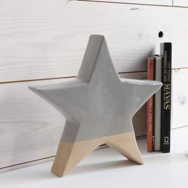 Plyr figura estrela grande cinza