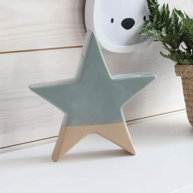 Plyr figura estrela pequena azul