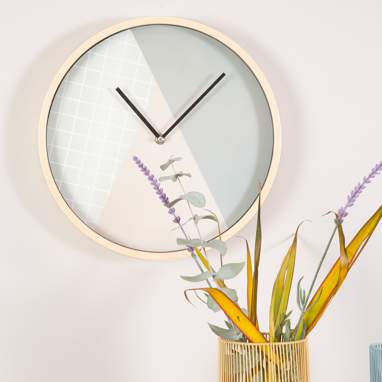 Cloky horloge rond triangles couleurs