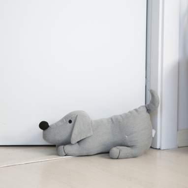 Boyl segura portas cachorrinho cinza