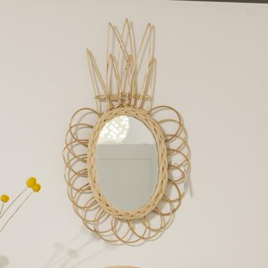 Ikup rattan pineapple mirror