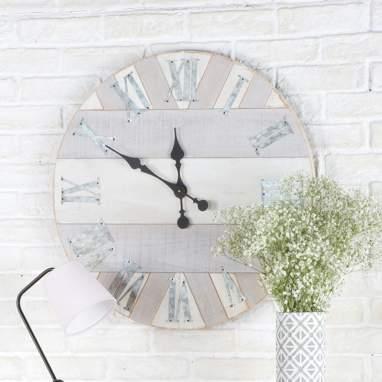 Steil relógio marchetaria cinza 64cm