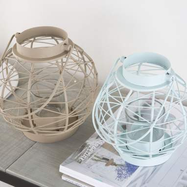 Krae blue/mole set 2 lanterns ball