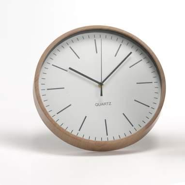 Dixi reloj blanco/madera d31cm