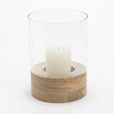 Derul wood candle holder