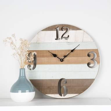 Evis relógio madeira d40
