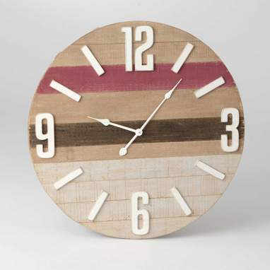 Joler red wooden clock