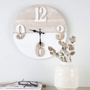 Viko relógio madeira bicolor 40cm