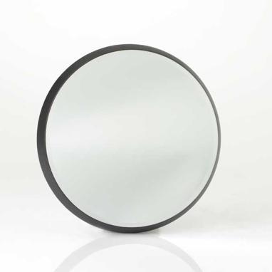 Sete espejo redondo negro 44cm