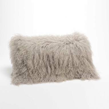 Semy grey pearl cushion lamb
