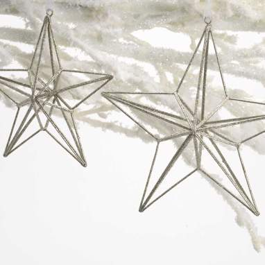Vope set 2 estrellas colgantes  plata