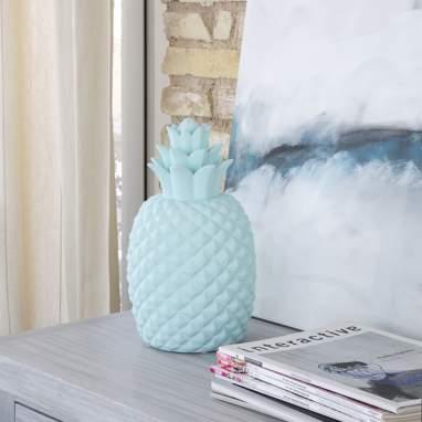 Tikk small blue ananas lamp