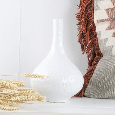 Lifo jarron ceramica blanco h 27