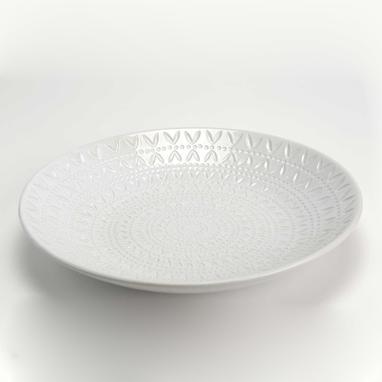 Bras bandeja ceramica blanca d.40cm