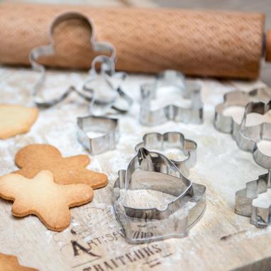 Petek conjunto 12 formas corta-massa biscoito natal