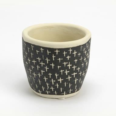 Colp vaso pianta nero