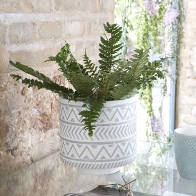 Visna vaso piante grigio grande