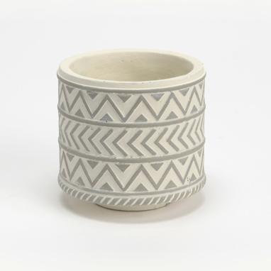 Korin vaso pianta grigio