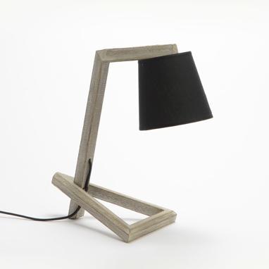 Suxa lampada da tavolo schermo nero