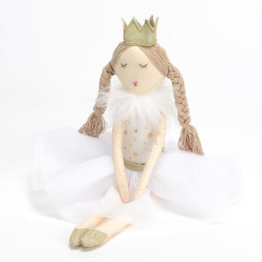 Yarej boneca rainha branca