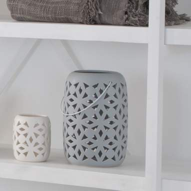 Mint grey candleholder