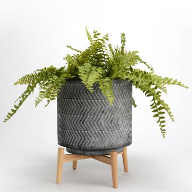 Wixa vaso grande cemento