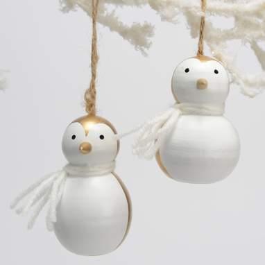 Thur pingüim madeira decoração suspensa s 2