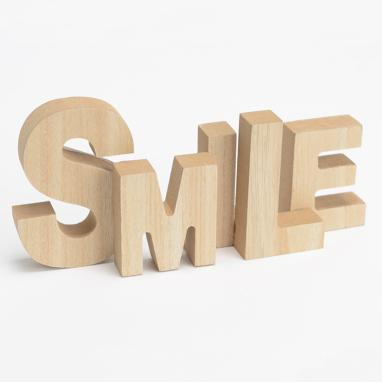Eram smile wooden letters