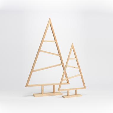 Trip wooden set 2 fir trees