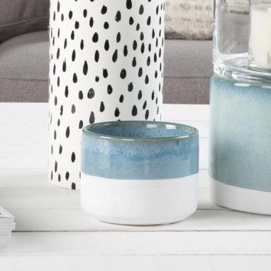 Brema vaso piante bianco-azzurro