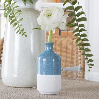 Piut vaso bottiglia bianco-azzurro
