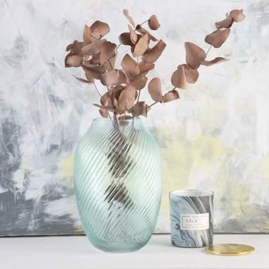 Spil vaso spirale azzurro